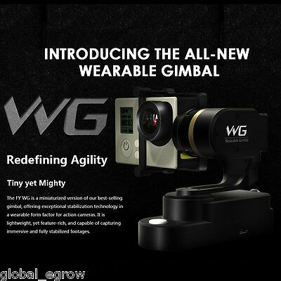 Feiyu Tech FY-WG 3-Axis Wearable Gimbal Steadycam Per Gopro Hero 4/3+/3 Cameras