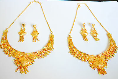 Indian Gold Plated Necklace Earring Set Bollywood Jewellery Ethnic Jewelry h13