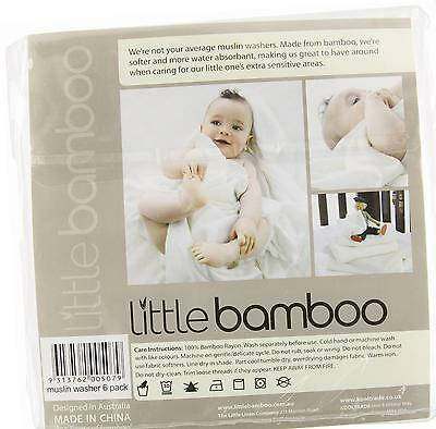 Little Bamboo Muslin Baby Wash Cloth (Pack of 6)