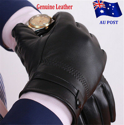 Men's Autum Winter Classic Genuine Leather Gloves  Winter / Snow / Bike /Driving