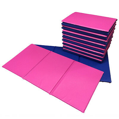 NEW 50x Folding Nursery Sleep Mats Blue / Pink for Children & Toddlers