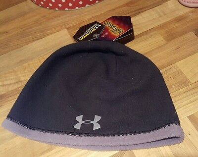 mens underarmour Golf / rugby / football infrared storm black Beanie hat Bnwt