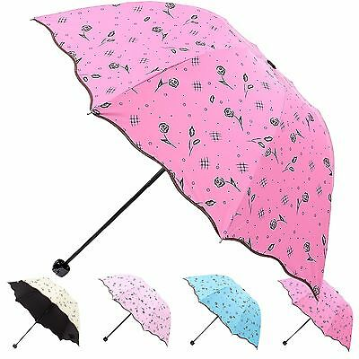 Womens / Girls Floral Pattern Umbrella with UV Protection