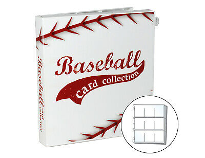 Baseball Trading Card Binder, 10 Pages Included