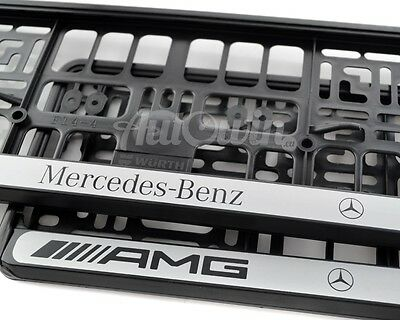 euro standart license plates frames for mercedes benz amg new 2pcs