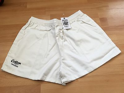 Bnwt-Cotton Traders White Twill Rugby Shorts Size Xl,l & S