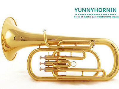 HOT SALE! Quality Baritone Horn Bb Gold BRAND NEW Outfit Horns W/Case Mouthpiece
