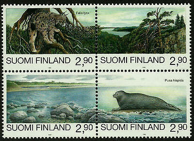 Finland #960 Mint Never Hinged Block - Endangered Animals
