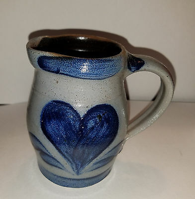 Pottery Pitcher CAMBRIDGE Wisconsin Rowe Works Mark 1998 4 1/2 in. High