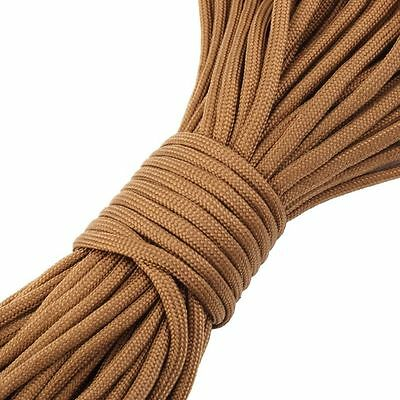 50FT 15 metre 550 Paracord Strands Parachute Cord Rope Lanyard Coyote sand UK