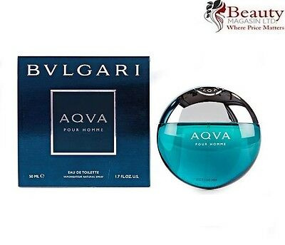 Bvlgari Aqva Pour Homme 50Ml Eau De Toilette Spray For Men