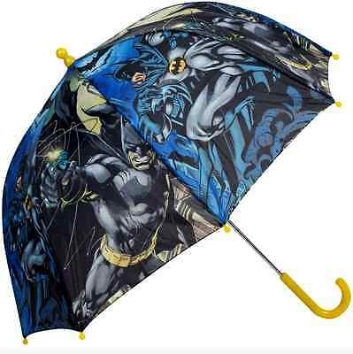 Official Batman Bubble Dc Comics Boys  Kids School Rain Umbrella Brolly New