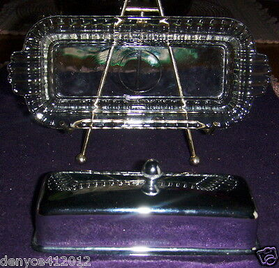 Glass Butter Dish w/Chrome Cover-10