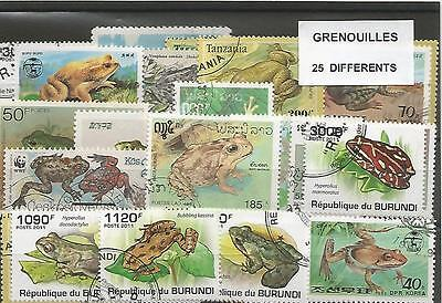 "Lot timbres thematique ""Grenouilles"""