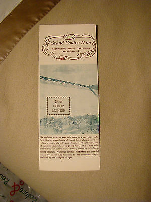 The Grand Coulee Dam - Now Color Lighted - Brochure
