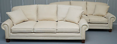 Pair Of Brand New Ralph Lauren Jamaica Rrp £33000 Sofas Ready To Dye Your Colour