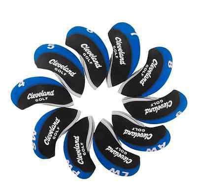 10x Cleveland Iron Covers Golf Club Head Covers Black&Blue