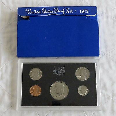 USA 1972 s 5 COIN PROOF YEAR SET - sealed/outer