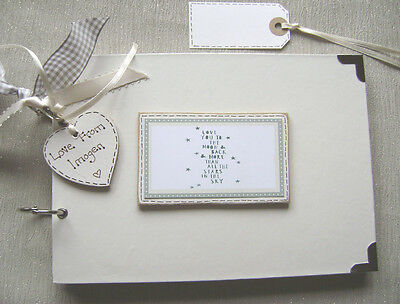 Personalised A5 Size.love You Moon & Back. Scrapbook/memory Book Christmas Offer