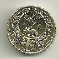 Rare 2011 Royal Mint Capital Cities Of The Uk Belfast £1 One Pound Coin