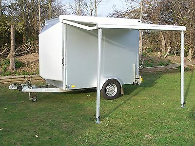 Blue Line Blv13085 Braked Box Trailer With Roller Shutter And Gh Awning Mint
