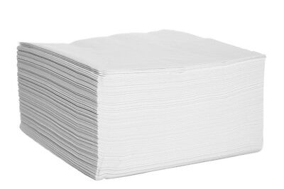2000x 40CM 2PLY WHITE PAPER NAPKINS SERVIETTES TISSUES CATERING PARTY RESTAURANT