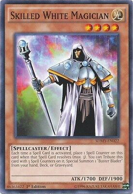 3 x Skilled White Magician (SDMY-EN022) - Common - Near Mint - 1st Edition