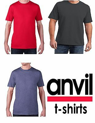 Plain T-Shirt Tee Men's Short Sleeve 5.3 oz Heavy Cotton - Color Solid Blank NEW