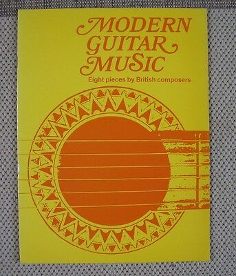 partition Modern guitare Music 8 pièces British composers