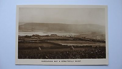 Old Vintage Postcard Carnlough Bay & Straitkelly Point Co. Antrim Signal Series