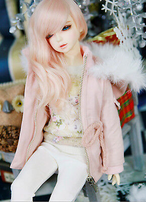 1/4 BJD Msd Size 16.5in Rabbit Fur Safari Pink Jacket Clothing Ball Jointed Doll