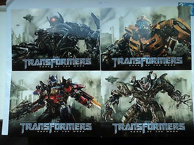 Transformers collectable postcards