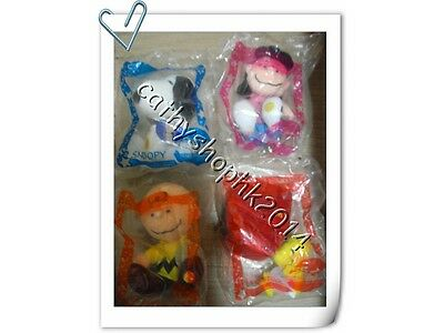 McDonald's Snoopy 55th Anniversary Woodstock Charlie Lucy Plush Doll Set of 4