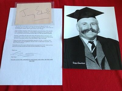 jimmy Edwards (Whacko!) Genuine Autograph and A4 Photo