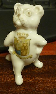 Crested China Comical Dog With Crest For Scarborough