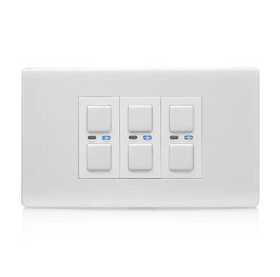 LightwaveRF LW430WH 3 Gang 250w Dimmer Switch White