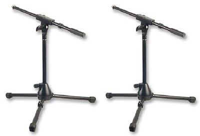 2 x Microphone Boom Stand Short Kick Bass Snare mic stand heavy duty metal