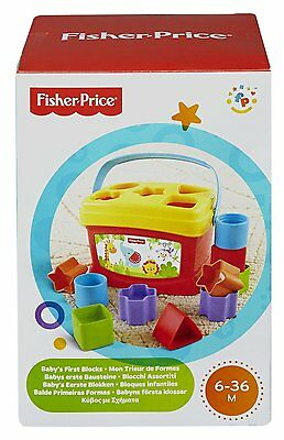 Baby Blocks Toys Educational First Basics Game Fisher-Price