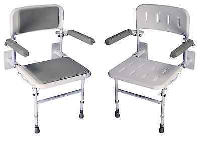 Solo Deluxe Shower Seat Padded Back Seat Aid Chair Shower Disabillity