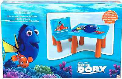 Official Disney Pixar Finding Dory Sit And Colour Colouring Table Chair Gift New