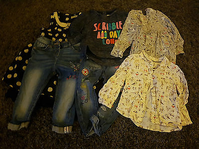 9 x Items Of NEXT Girls (18-24 Months) Clothes Bundle, Job Lot (1 1/2 to 2)