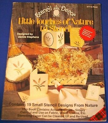 Little Touches of Nature to Stencil Decor Pattern Book 19 Small Designs Projects