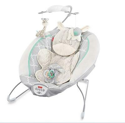 Fisher-Price Deluxe Baby Bouncer Comfort Vibrating Seat, Safari Dreams Infant