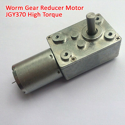 1Pcs DC12V JGY370 Worm Gear Motor With Metal Gear High Torque For DIY Accessory