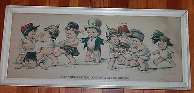 World War I QUIT YOUR FIGHTING LET'S ALL BE FRIENDS babies baby Twelvetrees