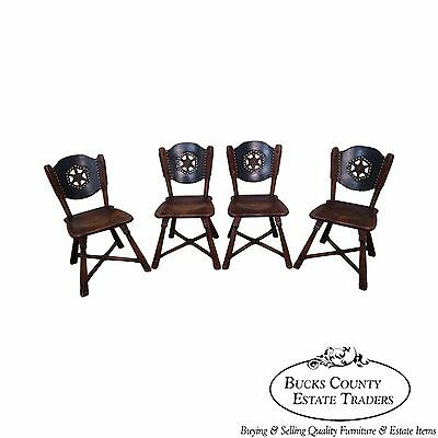 Romweber Viking Oak Set of 4 Vintage Dining Chairs