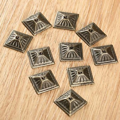 10/50/100pcs Square Nailhead Upholstery Nails Furniture Decorative Tack Studs