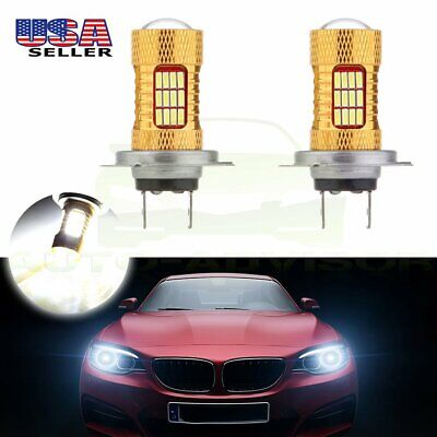 New H7 6000K Ultra White 54 SMD HID Bulb Low Beam Cree LED Light 60W Lamps