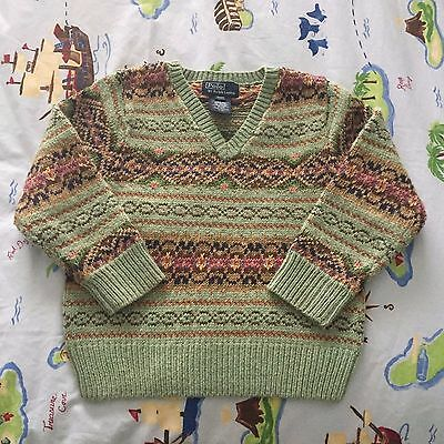 Ralph Lauren Boys Holiday Sweater Size 4T. Very cute!