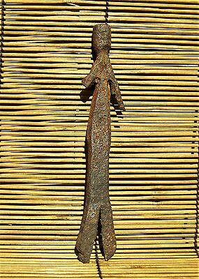 "African Moba Iron Figure from Togo 6 3/4"" Tall"